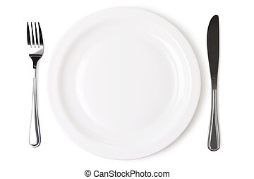 Set of kitchen object on a white background. The file...