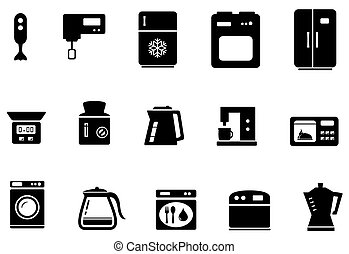 set of kitchenware isolated objects on white background