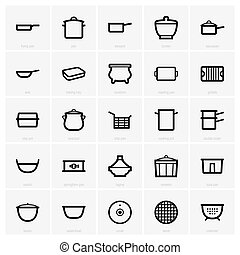 Kitchenware - Set of Kitchenware icons