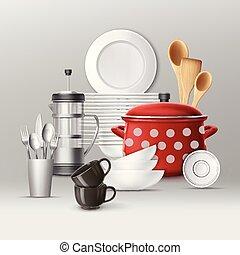 Set of kitchenware