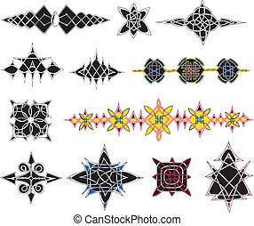 Set of knot patterns