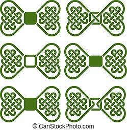 Set of knots shaped as bowties