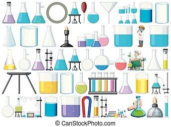 Set of lab equipment