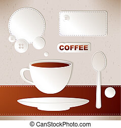 set of label coffee