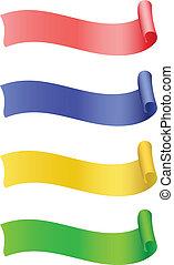 Set of label ribbon