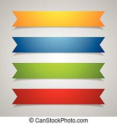 Set of label ribbons