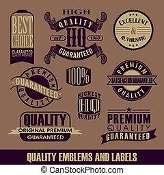 Set of label Vintage