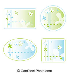 Set of Labels for kids
