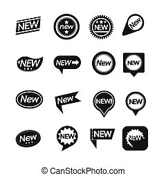 Set of labels New Icon for website and communication