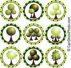 Set of labels with trees
