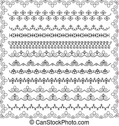 set of lace border - vector set of balck and white lace...