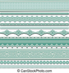 lace ribbons - Set of lace ribbons, vector