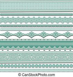 lace ribbons - Set of lace ribbons, vector