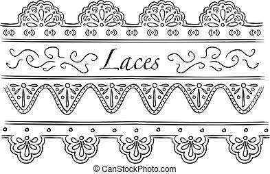 set of laces doodle