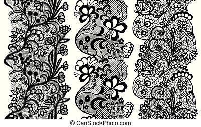 Set of lacy vintage elegant trims.
