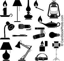 Lamp Silhouettes - Set of Lamp Silhouettes