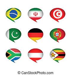 set of language icon, vector