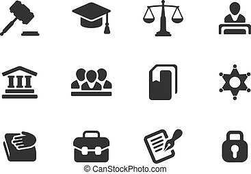 Set of law and justice icons