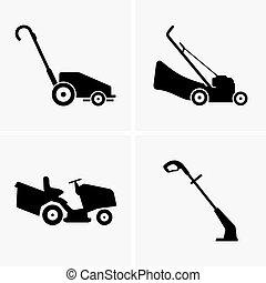 Lawn Mowers - Set of Lawn Mowers