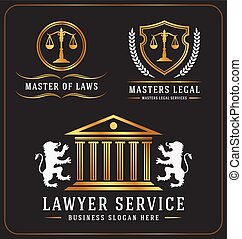 lawyer service office logo - Set of lawyer service office ...