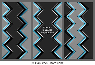 set of leaflets with an abstract pattern