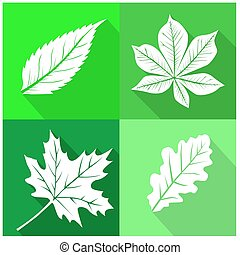 set of leafs icons