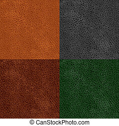 leather seamless pattern - set of leather seamless patterns