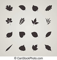 Set of leaves, vector illustration