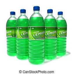 Set of lemon drinks