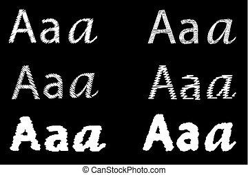 Set of letter A