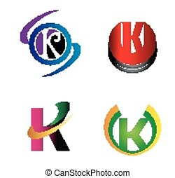Set of Letter K logo