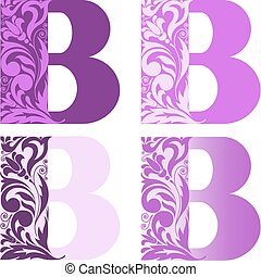 set of letters B