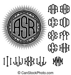 set of letters for decoration of st