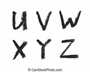 Set of letters isolated