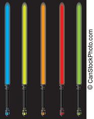 set of lightsabers