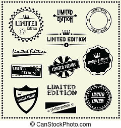 set of Limited Edition labels - set of Limited Edition...