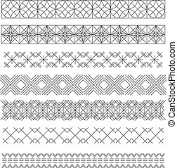 Set of line geometric hipster vintage design elements55