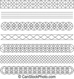 Set of line geometric hipster vintage design elements56
