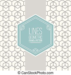 Set of line pattern and linear frame - Geometric linear ...