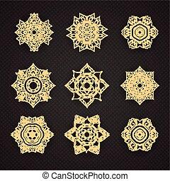 Set of Line Thai art design Vector set