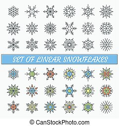 Set of linear snowflakes