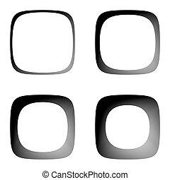 Set of lines textured frames