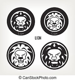 Set of lions