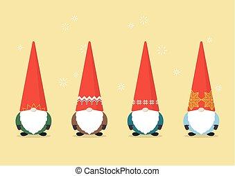Set of Little Santa claus