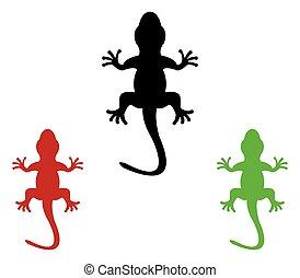 Set of lizards