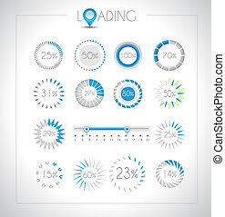 Set of Loading design elements - a lot of different styles...