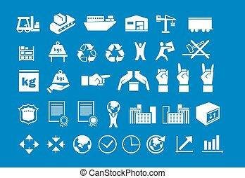 Set of logistic icons 2