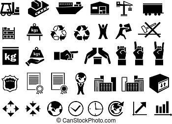 Set of logistic icons