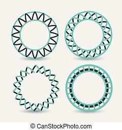set of logo abstract circles symbols on white background