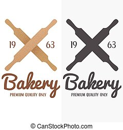 Set of logo, badge, label, emblem and logotype elements for bakery